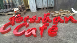 alte Leuchtbuchstaben Vintage 0408