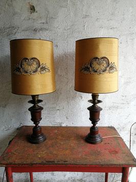 1 Paar alte Tischleuchten groß Nr 1110