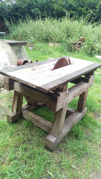 alte Werkbank Sägetisch Tischkreissäge  1608
