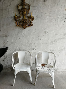 seltene Tolix Sessel Stühle Metall Stapelstuhl Nr 1110-03