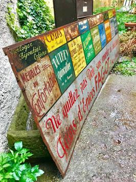 Riesiger altes Werbeschild Blechschild 3 m lang 0306