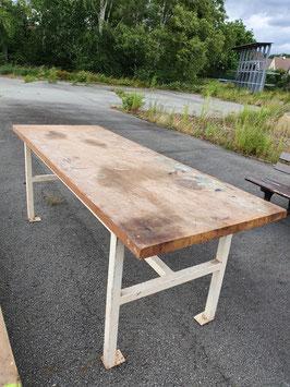 Toller, alter Werktisch Werktisch Hochtisch mit dicker Platte Nr 1407