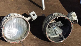 1 Paar Wandlampen Spots Aluguss Nr 2104-06
