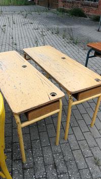 alte französische Schultische Schulpult Schreibtisch Nr 1709-03