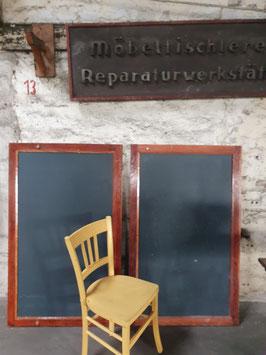 alte 2-seitige  Schultafel mit Aufhängemöglichkeit Nr 0103-03