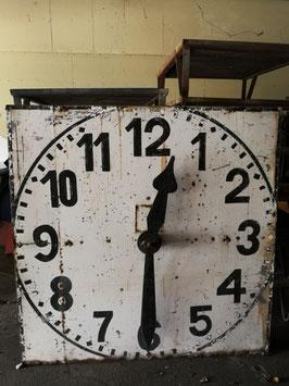 altes antikes Ziffernblatt einer Kirchturmuhr Turmuhr mit Zeigerpaar/Zeigerwerk Nr 0103