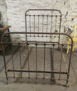 altes antikes Bett Metallbett aus Frankreich Jugendstil nr 0703