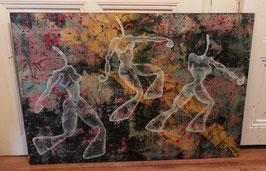 Schönes Gemälde Acryl auf Holz Nr 2103