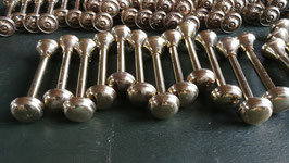 1 Paar alte Messing Gardinenhalter oder Regalhalter Nr 1603-01