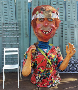 großes Parade Kostüm Karneval Fasching Figur Tennisspieler 175 cm