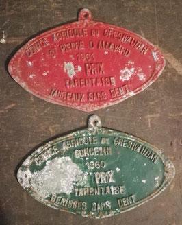 alte große Plaketten für Kühe  Bullenrennen Nr 3009-03