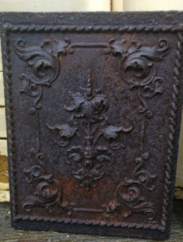 Traumhafte alte Ofenplatte aus Gusseisen Gründerzeit Nr 1203-03