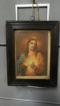 kleines, antikes Jesus Bild im Rahmen