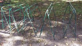alte Eisenböcke altes Industrie Tischgestell klappbar 2201