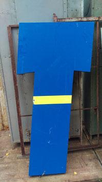 alter Buchstabe Vintage T blau - 157 cm hoch rest