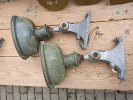 SUPERSCHÖNE alte Straßenlaterne Wandlampe Emaille klein 1409