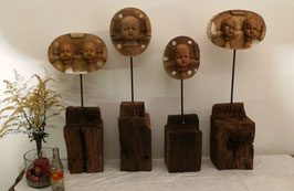 2er Set alte antike Puppe Gießform Puppenkopf Nr 0811-02