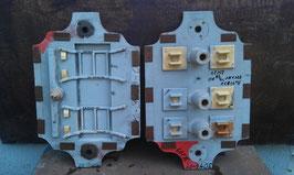 2 er Set alte Giesformen für Eisenteile