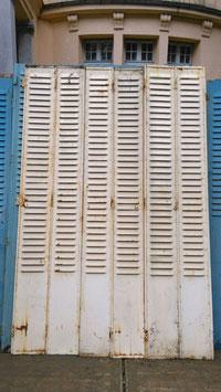 1 Paar Fensterläden aus Metall (mehrere vorhanden) creme-weiss 2907-03