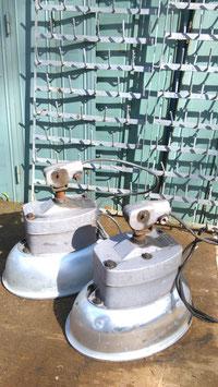 1 Paar Alu Lampen Köpfe von Strassenlaternen mit Gelenk Nr 2404-02
