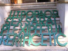 Vintage Buchstaben grün Metall NR 0708