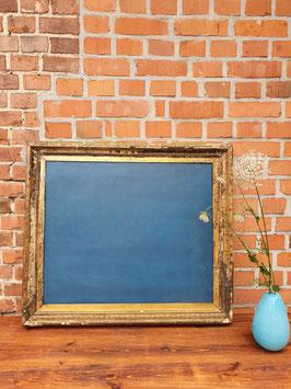 Tafel aus altem Rahmen gemacht blau