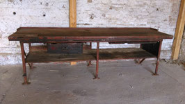 Sehr schöne rustikale Werkbank Metall/Holz Nr 0410