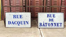 sehr alte Straßenschilder aus Frankreich Emaille gusseisern 2905-02