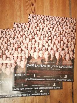 """Kinoplakat 54 x 40 """"Dans le Peau de John Malkovich"""" Nr 36 a"""