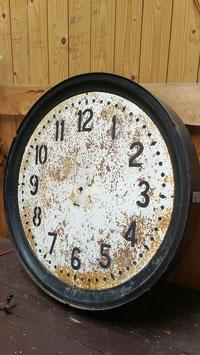 große alte Uhr Fabrikuhr mit Patina Nr 409