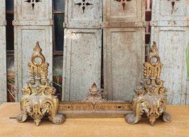 antiker Kaminvorleger Messing oder Bronze aus Frankreich 0405