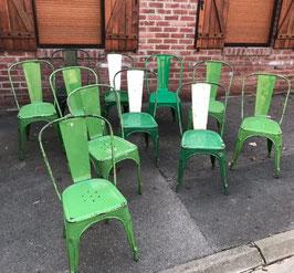 alte Tolix Typ A Stühle grün LOT 2