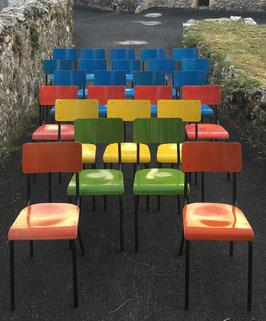 Poppige Vintage Stühle Schulstühle Stapelbar Nr 0412