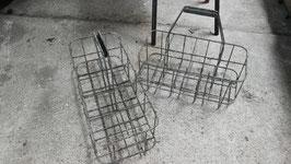 2er Set alter Flaschenträger aus Metall NR 1603indus