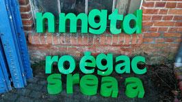 alte Buchstaben grün Nr 0312