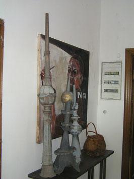 2er Set alte Turmspitzen aus Zinkblech