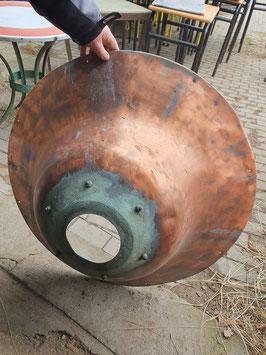 Riesiger Lampenschirm aus Kupfer Kupferschale Nr 1605la