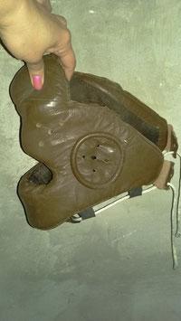 alte Boxmaske Schutzmaske Boxen Leder Vintage