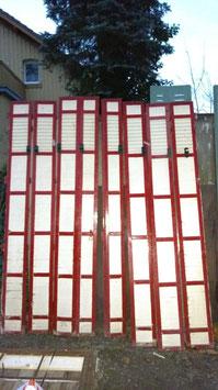 alte Holz Fensterläden für Terrassentür 180 x 217 h