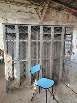 Historischer alter antiker Gitter Spind um 1900 von Gantois Nr 803 RARITÄT 0803