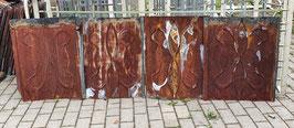 ca 20 qm alte Blechschindeln Blechplatten mit Muster und Rostpatina Nr 2505