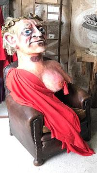 Julius Cäsar mit Brust Karnevalsfigur Kostüm Unikat