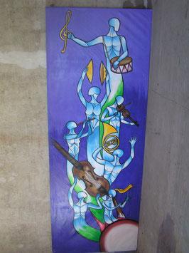 XXL Gemälde Acryl auf Leinwand Nr 2401-02