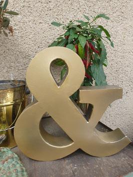 & Zeichen Krämerzeichen Metall schwer gold Nr 0906