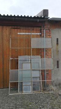 sehr großes Eisenfenster Panoramafenster Schaufenster 200 x 304 cm Nr 1603