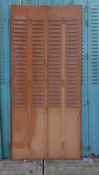 alte Metall Fensterläden Klappläden braun 2102-02