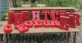 alte dicke Vintage Buchstaben rot Nr 1309-02