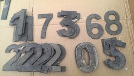 alte Hausnummern alte Zahlen aus Alublech 15 cm