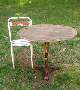 Toller antiker Tisch mit Eichenholzplatte Nr 2505-04 restauriert