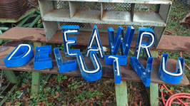 alte Buchstaben blau 25 cm 0612-03rest
